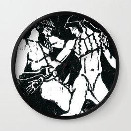 Greek Man & Boy Erotica (detail) Wall Clock