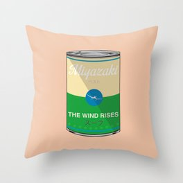 The wind rises- Miyazaki - Special Soup Series  Throw Pillow
