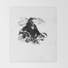 Beethoven Motorcycle Throw Blanket