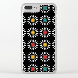 White daisies pattern Clear iPhone Case