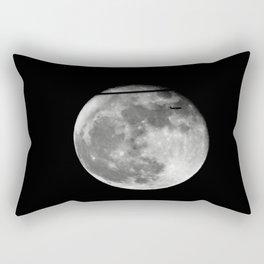 Airplane Passes 2016 Super Moon Rectangular Pillow