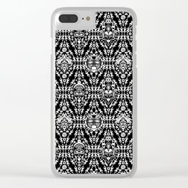 Ethnic African Tribal pattern on black Clear iPhone Case