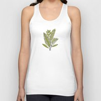 study Tank Tops featuring Fern Study by Heather Dutton