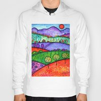 north carolina Hoodies featuring Landscape - Boone, North Carolina by Karen Hickerson