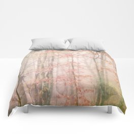 Pink Forest Comforters