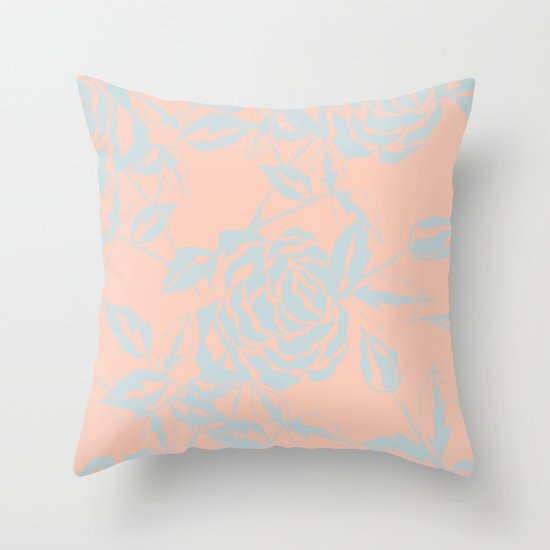 Rose is a Rose - Garden party Throw Pillow