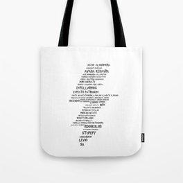 Charm List Tote Bag