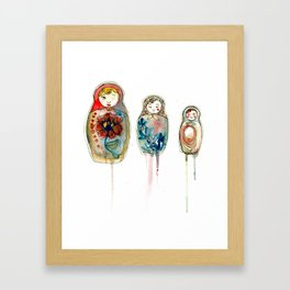 russian dolls Framed Art Print
