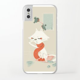 Running nose Clear iPhone Case