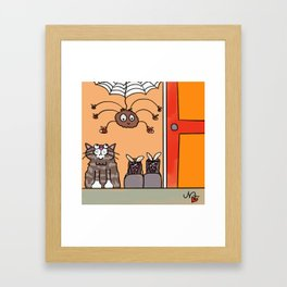 Can you point me towards the shoe store? Framed Art Print