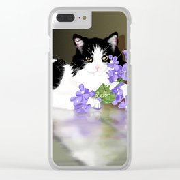 Cherokee Kitty Clear iPhone Case
