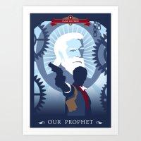 bioshock Art Prints featuring Bioshock Infinite by Spiritius