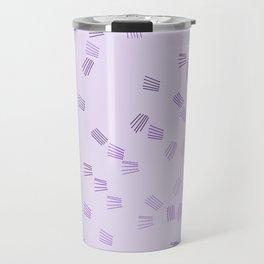 Lilac & purple puzzle Travel Mug