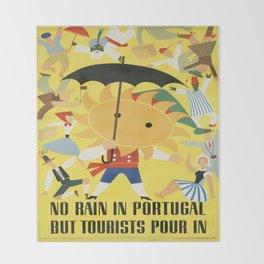Vintage poster - Portugal Throw Blanket