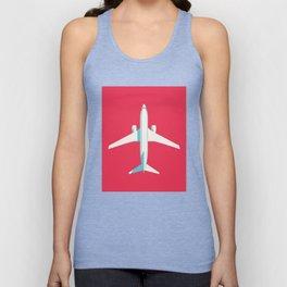 737 Passenger Jet Airliner Aircraft - Crimson Unisex Tank Top