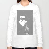 gentleman Long Sleeve T-shirts featuring GENTLEMAN by sophia derosa
