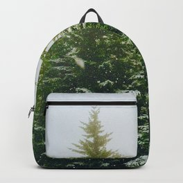 Winter Pine Tree Forest (Color) Backpack
