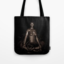 Black Queen Artistic Nude African American Woman  Rose  Tote Bag