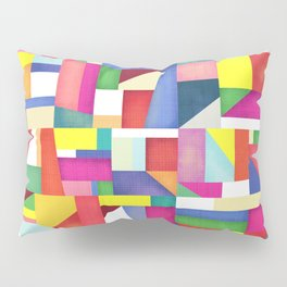 Colorful grid design Pillow Sham