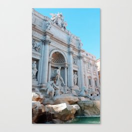 Trevi Fountain in Summer Canvas Print