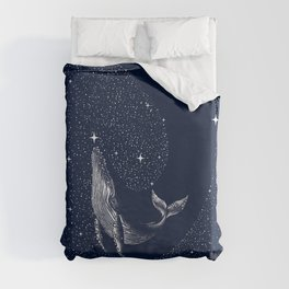 starry whale Duvet Cover