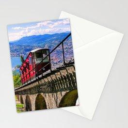Lugano, Switzerland Funicular - Cable Car Lakeside photograph Stationery Cards