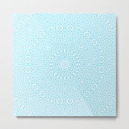 Cyan Kaleidoscope 2 Metal Print