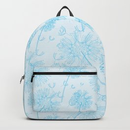 Dandelion Plants, Flower Heads - Pale Blue Backpack