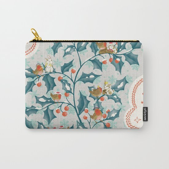 Sweet Holly Christmas Carry-All Pouch