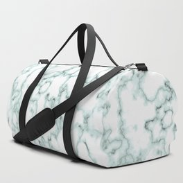 Marble Texture Pattern Green 043 Duffle Bag