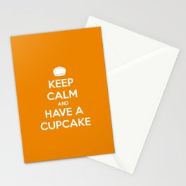 Keep Calm and Have A Cupcake Stationery Cards
