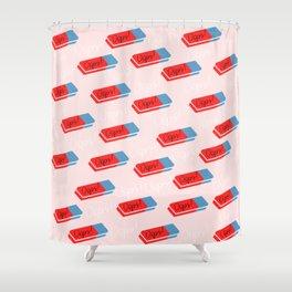 Oops - cute eraser pattern Shower Curtain