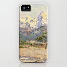 Claude Monet - The Valley of the Nervia (1884) iPhone Case