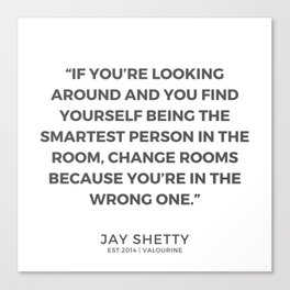 22     | 191109 | Jay Shetty Quotes Canvas Print