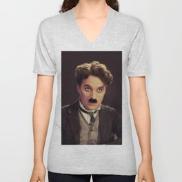 Charlie Chaplin, Hollywood Legend Unisex V-Neck
