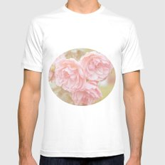 Rose Garden Mens Fitted Tee SMALL White