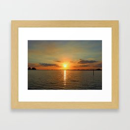 A Moody River Framed Art Print