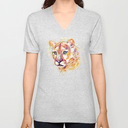 Cougar Head Unisex V-Neck