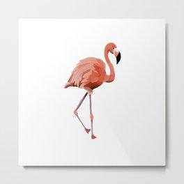 Pink Flamingo - Flamenco - 57 Montgomery Ave Metal Print