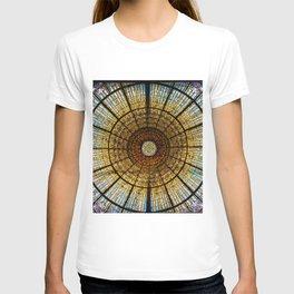 Barcelona glass window stained glass T-shirt