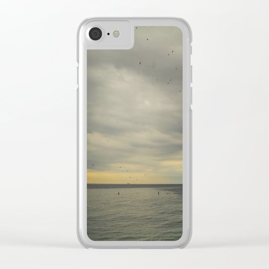 Barcelona beach Clear iPhone Case