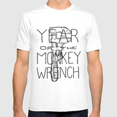Year of the Monkey Wrench White SMALL Mens Fitted Tee