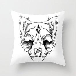 Vamp Cat Throw Pillow