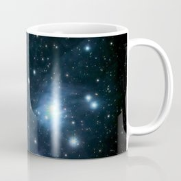 The Pleiades reflection nebula in the constellation of Taurus. Open star cluster. Coffee Mug