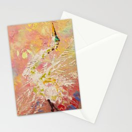 Great egret Stationery Cards