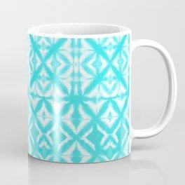 Breeze Block Shibori Aquamarine Coffee Mug
