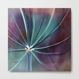 Garden Medusa. Botanical Macro Abstract Metal Print