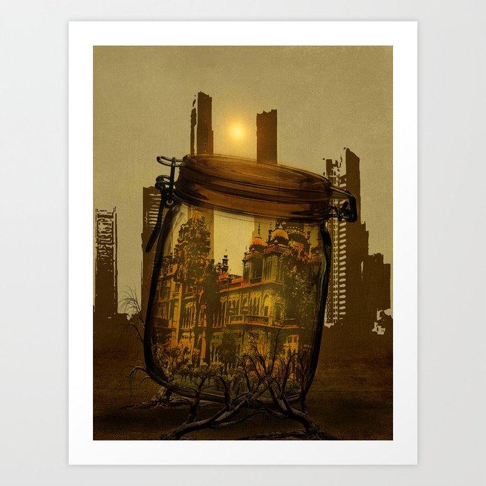 The last vintage city. Art Print