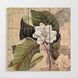 Vintage White Magnolia Wood Wall Art