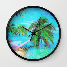 Palms on the Bay Wall Clock
